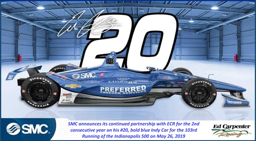 SMC and Ed Carpenter Racing Together Again at the Indy 500